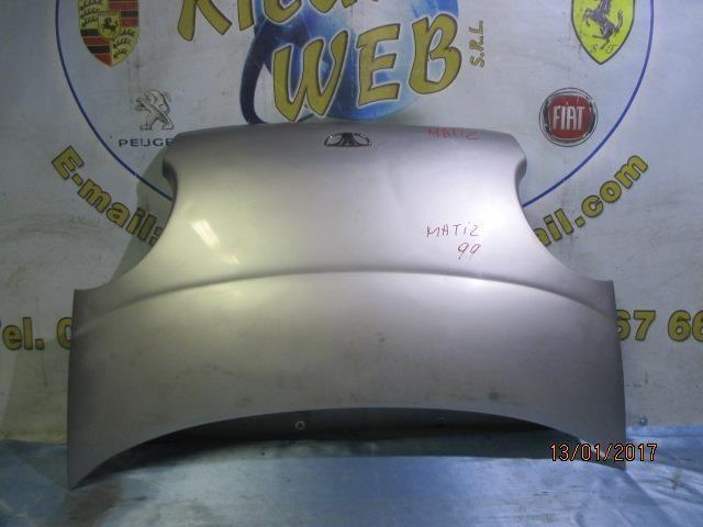 daewoo matiz 1999 cofano grigio argento