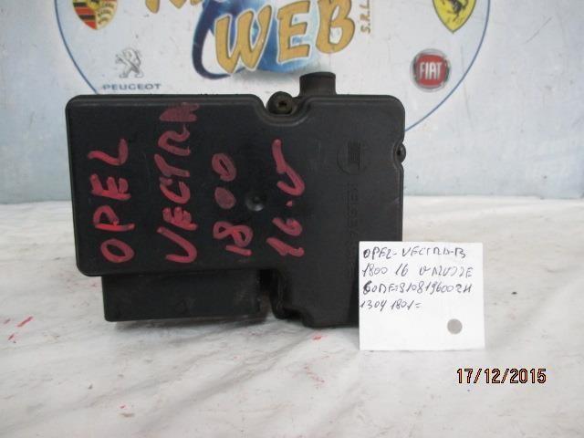 opel vectra 1.8 benzina 16v  pompa abs code s108196002h