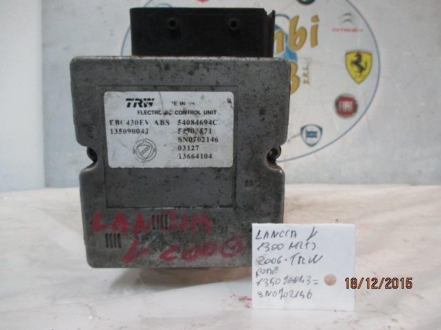 lancia y 1.3 mtj 2006 abs trw 13509004j sn0702146