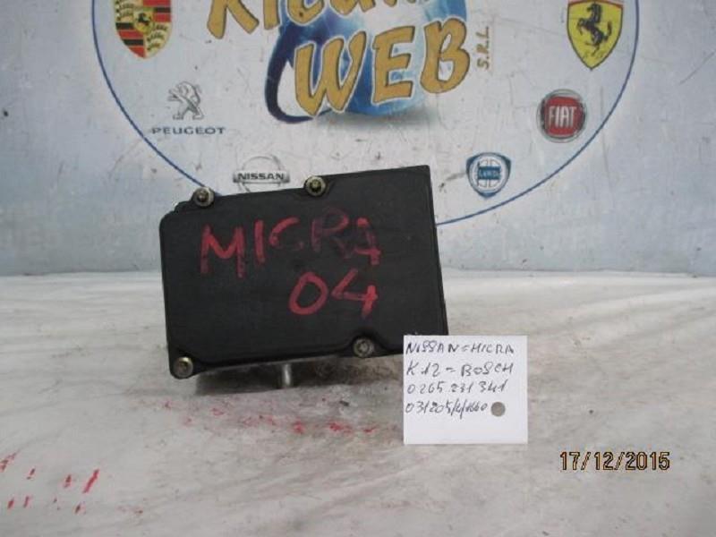 nissan micra k12 abs bosch 0265231341