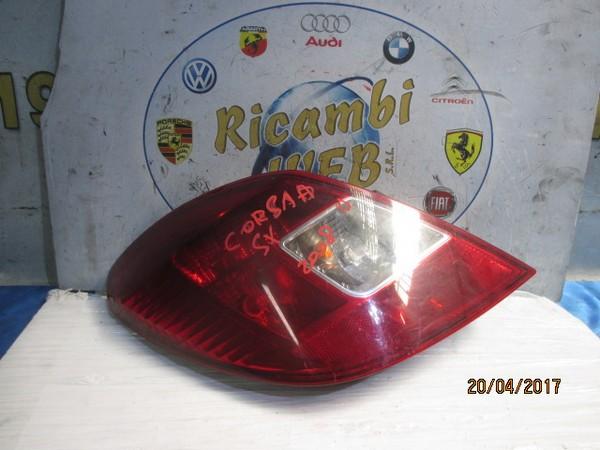 opel corsa d 2008 fanale posteriore sx