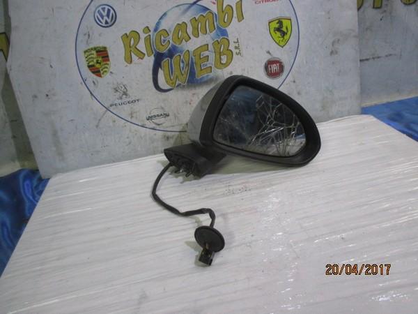 opel corsa d 2008 specchietto elettrico dx grigio argento con vetro ro