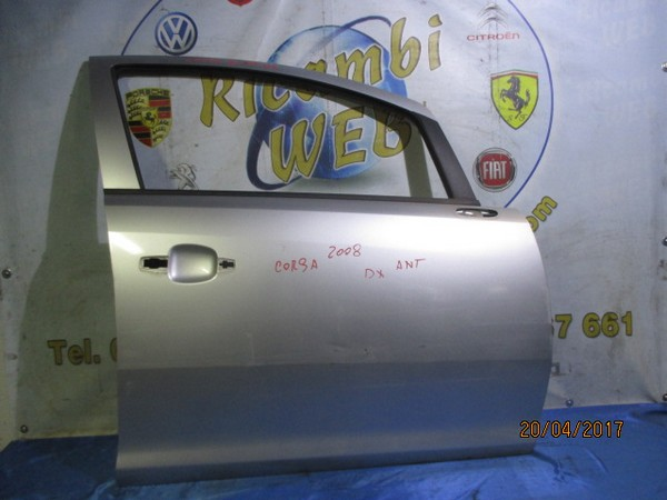 opel corsa d 2008 sportello anteriore dx grigio argento