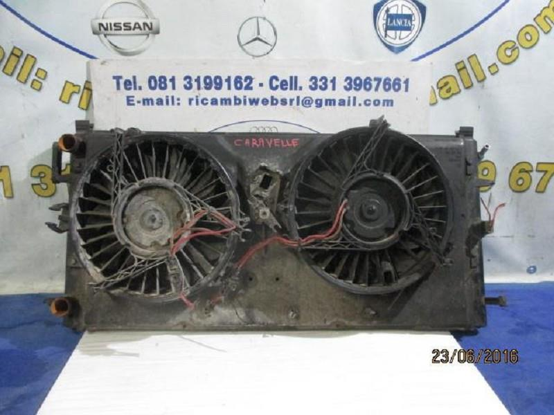 volkswagen transporter/caravelle radiatore acqua cn ventole
