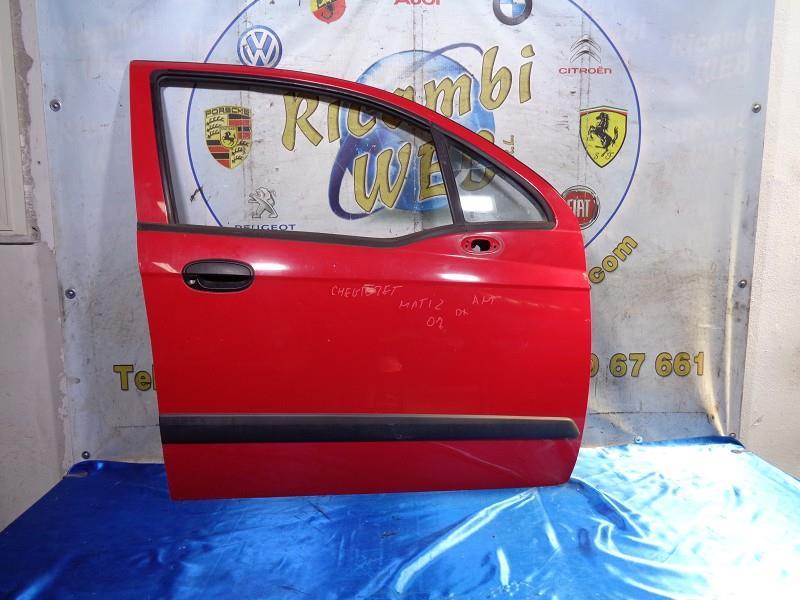 chevrolet matiz '07 sportello anteriore dx rosso