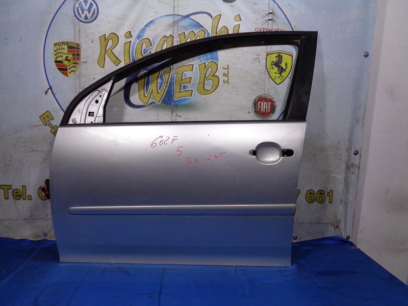 volkswagen golf 5 sportello anteriore sx grigio argento (graffiato)