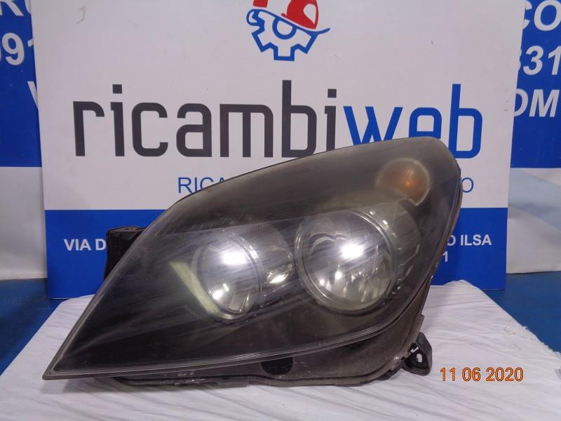 opel astra h '06 fanale anteriore sx (opaco - fondo nero)