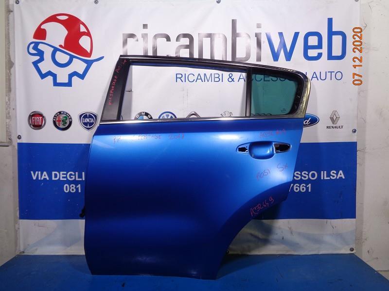 kia sportage '018 sportello posteriore sx blu cobalto