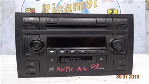 AUDI ELETTRONICA  AUDI A4 '03 AUTORADIO CD/CASSETTA     (SENZA CODICE)