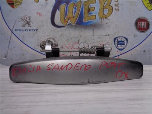 DACIA CARROZZERIA  DACIA SANDERO '07 MANIGLIA ESTERNA POSTERIORE DX GRIGIO ARGENTO