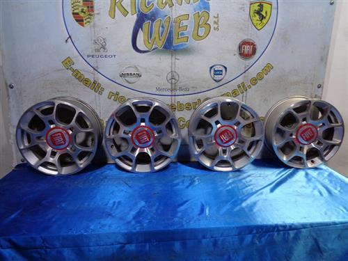 FIAT ACCESSORI  FIAT 500 ABARTH '10 CERCHI I LEGA R16 POLLICI 6.5 (1 CERCHIO DA RIPRI)