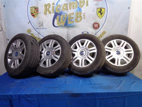 FIAT ACCESSORI  FIAT IDEA CERCHI IN LEGA R15 POLL. 6 CON GOMME 195/60 (GOMME AL 75%) *