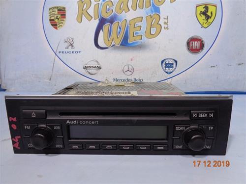 AUDI ELETTRONICA  AUDI A4 CONCERT '07 AUTORADIO (SENZA CODICE)