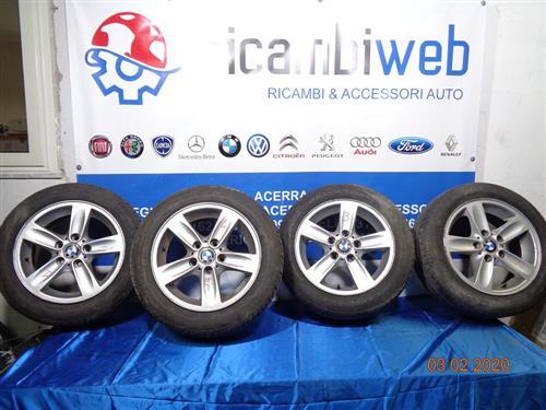 BMW ACCESSORI  BMW SERIE 1 CERCHI IN LEGA R16 CON GOMME 205/55 (GOMME AL 70%)