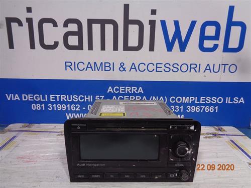 AUDI ELETTRONICA  AUDI A3 '10 AUTORADIO MP3 CON NAVIGATORE 8P0035192 (SENZA CODICE)
