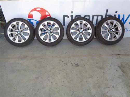BMW ACCESSORI  BMW SERIE 3 '07 CERCHI COMPLETI DI GOMME AL 70% MISURE 205/50/R17