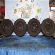 FIAT ACCESSORI  FIAT PUNTO 2001 4 CERCHI IN FERRO CON GOMME MISURE 165/70/R14 AL 70%*