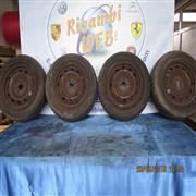 FIAT ACCESSORI  FIAT PANDA 4X4 03 4 CERCHI CON GOMME MISURE 195/65/R15 AL 60%