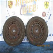 FIAT ACCESSORI  FIAT PUNTO 01 2 CERCHI IN FERRO CON GOMME MISURE 165/70R14 ALL'80%*
